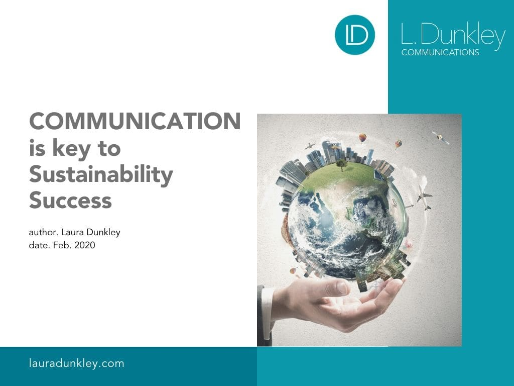 Communications Key to Sustainability Strategy Success GRAPHIC